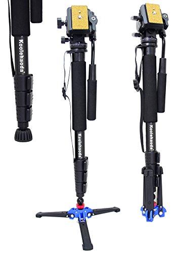Koolehaoda-Professional-Camera-Aluminium-de-Monopied-Tte-fluide-vido-avec-trois-pieds-de-soutien-Stand-titulaire-A2-trpied-Max-64-Charge-maximale-6kg-0