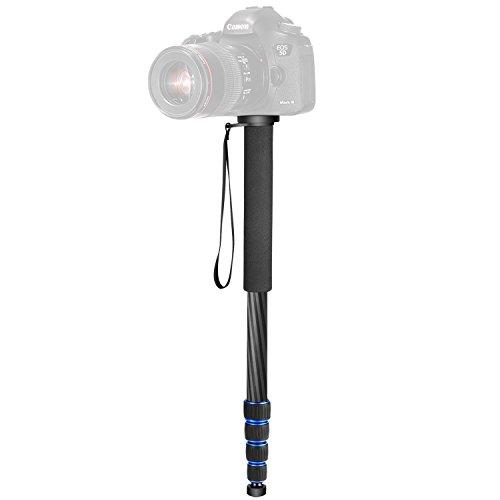 Neewer-Monopode-en-fibre-de-carbone-5-sections-191626-cm48163-centimetres-rglable-support-Portable-avec-sac-de-transport-pour-Canon-Nikon-Pentax-Sony-Olympus-DSLR-jusqu-10-kilogram10-Kilogrammes-Noir–0-1