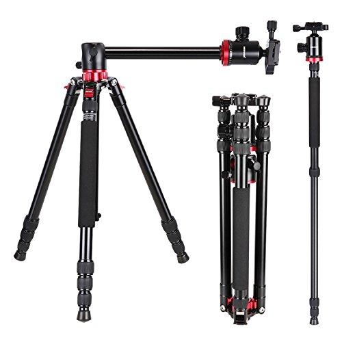 Neewer-10089347-Trpied-Monopode-Alliage-Aluminium-191-cm-avec-Colonne-Rotative-pour-Prise-Panoramique-avec-Rotule-de-360-degrs-pour-DSLR-Vido-Camscope-Charge-Admissible-de-12kg-0