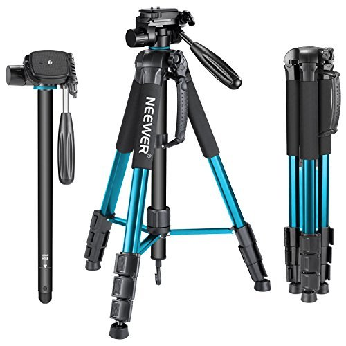 Neewer-10090794-Trpied-Monopode-Portable-177-cm-en-Alliage-Aluminium-avec-Tte-3-Voies-Pivotante-Panoramique-Sac-pour-DSLR-DV-Vido-Camscope-Charge-Admissible-de-4-Kilogrammes-Bleu-Sab264-0