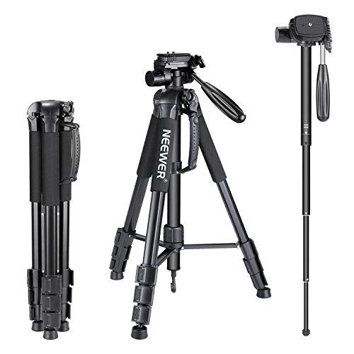 Neewer-177-centimtres-Trpied-Monopode-Alliage-Aluminium-Portable-Noir-avec-Tte-Pivotante-3-Directions-et-Sac-pour-DSLR-DV-Vido-Camscope-Charge-Admissible-de-4-kilogrammes-SAB264-0