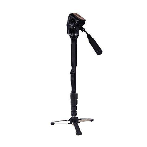 Andoer-Yunteng-VCT-288-Photographie-Trpied-Monopied-Pan-Tte-Rotatif-Support-Unipied-pour-Canon-Nikon-0