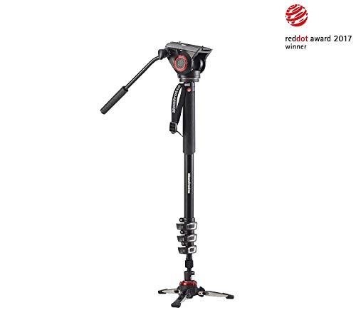 Manfrotto-XPRO-Monopod-MVMXPRO500-Monopied-Vido-en-Aluminium–4-Sections-Verrouillage-Rapide-Tte-et-Base-Vido-Fluides-pour-Vidastes-Professionnels-et-Camscopes-jusqu-5-kg-0